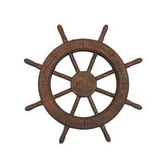 Handcrafted Nautical Decor Decorative Ship Wheel Wall D cor ($44) ❤ liked on Polyvore featuring home, home decor, wall art, handcrafted home decor, handmade wall art and handmade home decor