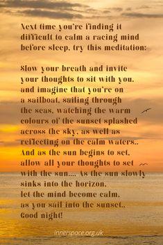 Calming a racing mind before sleep Mind Gym, Before Sleep, Covent Garden, Calm Down, Calming, Personal Development, Meditation, Relax, Mindfulness