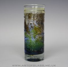 Isle of Wight Studio Glass trailed vase, designed by Michael Harris