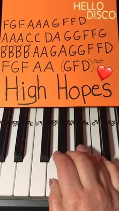therubypiano(@therubypiano) on TikTok: How to play High Hopes on Piano by Panic! At The Disco 🎹❤️ #Piano #highhopes #panicatthedisco Piano Sheet Music Letters, Piano Music Notes, Easy Piano Sheet Music, Flute Sheet Music, Mood Songs, Music Mood, Music Chords, Music Lyrics, Music Music