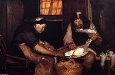 Anna Ancher - Two Oldsters Plucking Gulls