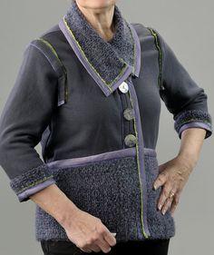 Women's Sweatshirt/Sweater Upcycle Jacket with Removeable Sleeves, Ladie's Sweatshirt jacket, Women's Recycle Jacket.  https://www.etsy.com/listing/271829508/womens-sweatshirtsweater-upcycle-jacket?ref=shop_home_active_7