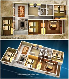 Summer Fouad Egyptian Architect: 3d furnished plan of my work on 3ds max