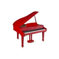 pianoforte digitale a coda orla 310 con panchetta rossa inclusa.