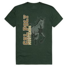 Cal Poly California Polytechnic State University Mustangs NCAA Ghost Tee T-Shirt College Shirts, School Spirit, State University, Printed Shorts, Cotton Tee, Cool T Shirts, California, Tees, Graphics