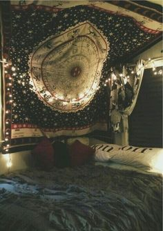 Scarf bedding boho hippie home decor home accessory tapestry blanket zodiac bedr … – Boho Apartment Decor Hippie – Home Decor Dream Rooms, Dream Bedroom, My New Room, My Room, Girl Room, Dark Planet, Deco Boheme, Tumblr Rooms, Teen Room Tumblr