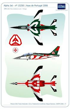 Asas de Portugal. Alpha Jet. Portugal, Alpha Jet, War Thunder, Aircraft Painting, Color Profile, Aviation Art, Luftwaffe, Armed Forces, Military Aircraft