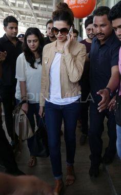 Deepika Padukone snapped at Jaipur airport | PINKVILLA