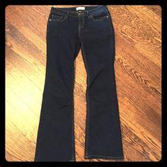 Dark blue Banana Republic boot cut jeans. Dark blue stretch denim. Boot cut. Like new. Banana Republic Jeans Boot Cut