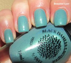 Black Dahlia Lacquer Barton Springs Babe, from the Capital Collection, 3 coats with top coat, with flash
