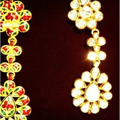 Exquisite meenakari enamel design from Mughal era, early 1600's. #workinprogress #atwork