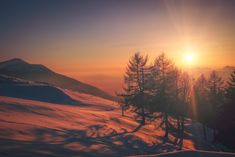 Browse Free HD Images of Winter Sun On Snowy Mountain New Travel, Travel Goals, Linkedin Image, Winter Images, Winter Sunset, Nature Sounds, Snowy Mountains, Like Instagram, Sunset Pictures
