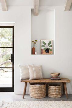 Contigo Pillow - Sand Tan Accent Pillow with Textured Stripes Decoration Inspiration, Interior Inspiration, Room Inspiration, Decor Ideas, Living Room Decor, Bedroom Decor, Interior Decorating, Interior Design, Simple Interior