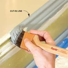 Wish I had seen this yesterday! Oh well, for next time... How to repaint chipped, flaking or dirty moldings so they look like new by the DIY experts of The Family Handyman magazine..