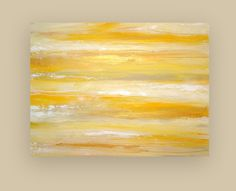 "Large Yellow and Gold Original Acrylic Abstract Art on Gallery Canvas Titled: Summer Gold 30x40x1.5"" by Ora Birenbaum. $345.00, via Etsy."