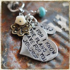 Bible verse jer. 29:11, Gift for Missionary, Graduation Gift, Purse Charm, Keychain, Valentines Day, Adoption, New Baby, Christian Gift