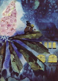 Jiri Trnka, illus. for Fireflies, 1969