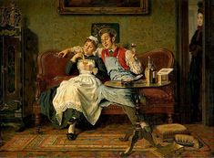 EDGAR BUNDY (1862-1922) A Bit of Banter, 1906