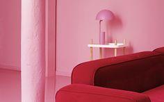 Playful pink Cap lamp from Normann Copenhagen
