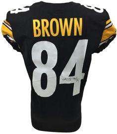 Antonio Brown Signed Pittsburgh Steelers 2017 Game Issued Jersey JSA  WP876895 b0bb9a745