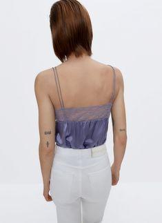 Blusas y camisas de mujer | Uterqüe primavera-verano 2021 Blazers, Spaghetti Tops, Crop Tops, Tank Tops, White Shorts, Sweaters, Camisole Top, Zara, Denim