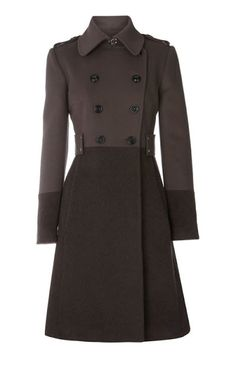 Military Fashion Jacket--I had one like this in the Air Force, but I like it! Designer Winter Coats, Herve Leger Dress, Karen Millen, Military Fashion, Military Style, Coat Dress, Jacket Style, Coats For Women, Autumn Winter Fashion