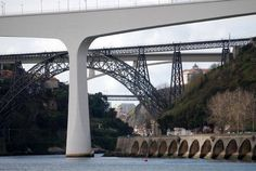 As pontes do Porto....S.João- D.Maria-Infante- Luis I Foto A.Stuart