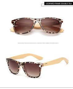 Bamboo Designer Wood Sunglasses