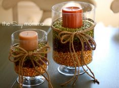 DIY :: Fall Centerpieces » The Sassy Momma