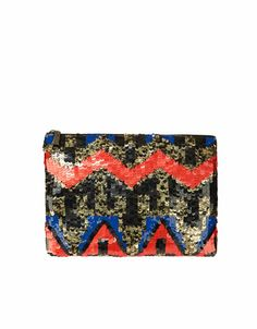 zara wallet with sequins. $59.90