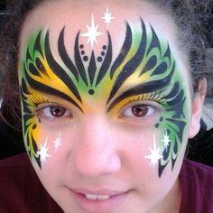 Green Tribal Mask