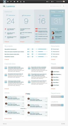 EC: Intranet design on Behance