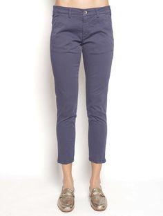 40WEFT MELITAS - Pantalone Chinos Blu Pantaloni - TRYMEShop