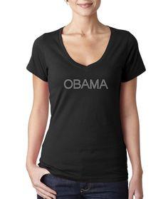 Obama Rhinestone T Shirts  $18.67