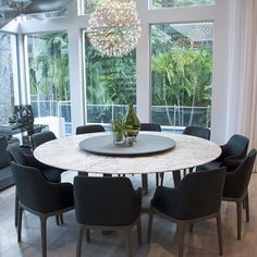 Completely in love with the dining room of our #KeyBiscayne project ❤️✨ #Interiors #InteriorDesign #DiningRoom #MiamiInteriorDesigners