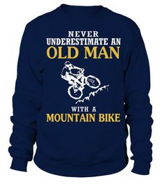 # bicycle bicycling cycling Cycle cyclist bike biking biker ride T Shirt .  OLD MAN WITH A MOUNTAIN BIKEHOW TO ORDER:1. Select the style and color you want: 2. Click Reserve it now3. Select size and quantity4. Enter shipping and billing information5. Done! Simple as that!TIPS: Buy 2 or more to save shipping cost!This is printable if you purchase only one piece. so dont worry, you will get yours.Guaranteed safe and secure checkout via:Paypal   VISA   MASTERCARD