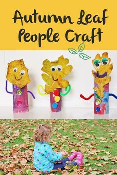 Autumn Leaf People. Autumn Kid's Craft. Quick Autumn craft for children. How to use Autumn leaves you've collected! Fun and easy craft ideas for Autumn and fall.