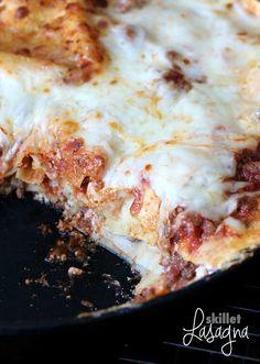 Easy Skillet Lasagna made in one pan!! Great weeknight meal!