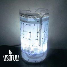 Cilindro Lampara Led / Partes electrónicas re utilizadas