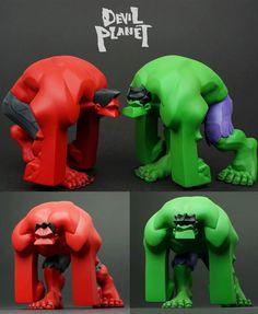 "Devil Planet ""Green"" & ""Red"" Hulk figure teaser from Kang Minjung!"