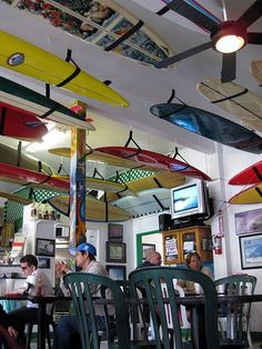 Taco Surf in Pacific Beach, San Diego, California. My favorite place to eat in San Diego!! Can't wait to go in April!!