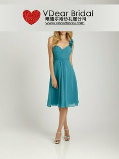 One Shoulder Teal Bridesmaid Dresses 13BD138 | lilygown.com ~$65 Teal Bridesmaid Dresses, Strapless Dress Formal, Formal Dresses, Maid Of Honor, Dream Wedding, One Shoulder, Bridal, Books, Fashion