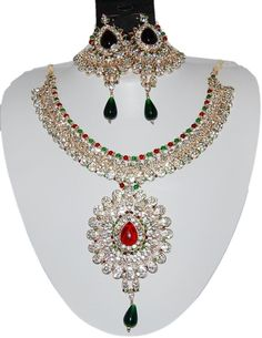 Checkout our #awesome product Bollywood Style Indian Imitation Necklace Set / AZBWBR025-GRG - Bollywood Style Indian Imitation Necklace Set / AZBWBR025-GRG - Price: $125.00. Buy now at http://www.arrascreations.com/bollywood-style-indian-imitation-necklace-set-azbwbr025-grg.html
