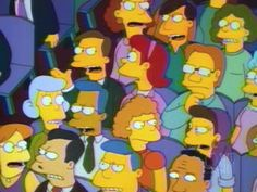'Taxes' guy row up, seated next to aisle) Homer Simpson, Lisa Simpson, The Simpsons, Guy, Fictional Characters, Fantasy Characters