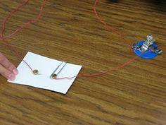 Constructing a series circuit.