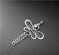 abstract dragonfly pendant