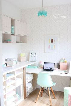 Home office inspiration. Home Office Space, Home Office Design, Home Office Decor, Home Decor, Office Ideas, Office Furniture, Desk Space, Pipe Furniture, Furniture Vintage