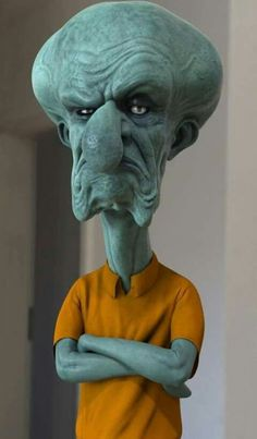 How cartoon characters would look in real life: Squidward From Spongebob Squarepants Cartoon Kunst, Cartoon Art, Cartoon Characters, Zombie Cartoon, Favorite Cartoon Character, Character Art, Realistic Cartoons, Famous Cartoons, 3d Artwork