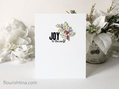 CAS Christmas Card Joy to the World - Flourishtina Christmas Thank You, Christmas Cards, Joy To The World, My Stamp, Hello Everyone, Pattern Paper, Flourish, Cas, The Creator