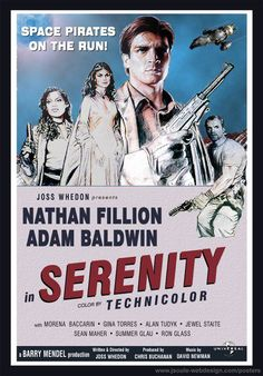 Serenity poster, vintage style.